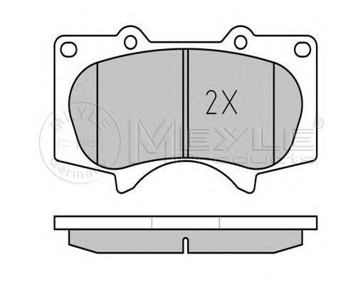 Комплект тормозных колодок, дисковый тормоз MEYLE арт. 0252402417W