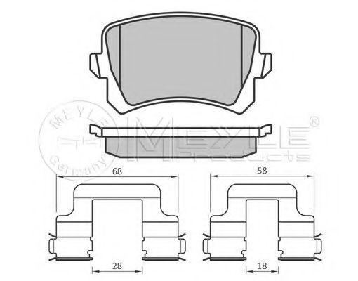 Комплект тормозных колодок, дисковый тормоз MEYLE арт. 0252448317