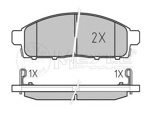 Комплект тормозных колодок, дисковый тормоз MEYLE арт. 0252452916W