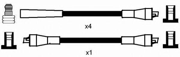 Комплект проводов зажигания NGK арт. 7104