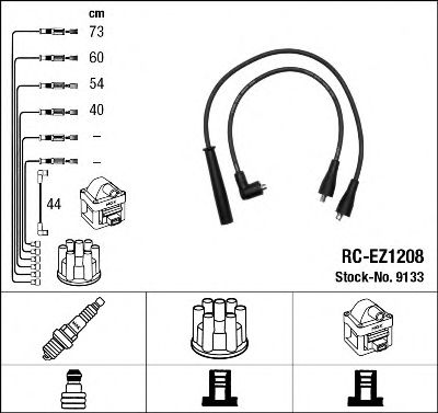 Комплект проводов зажигания NGK арт. 9133