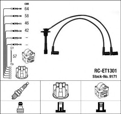 Комплект проводов зажигания NGK арт. 9171