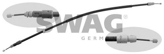 Трос, стояночная тормозная система SWAG арт.