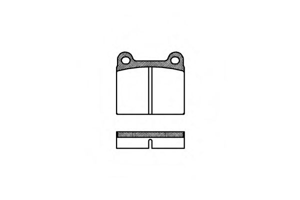 Комплект тормозных колодок, дисковый тормоз ROADHOUSE арт. 200600