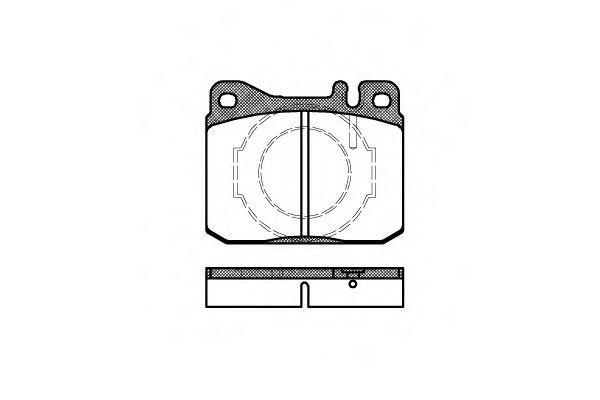 Комплект тормозных колодок, дисковый тормоз ROADHOUSE арт. 201040