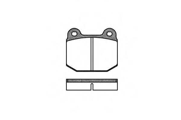 Комплект тормозных колодок, дисковый тормоз ROADHOUSE арт. 201400