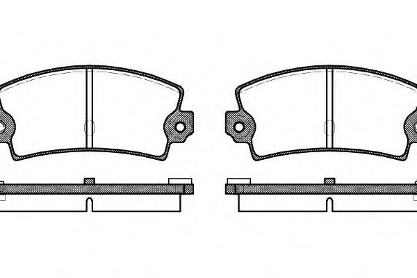 Комплект тормозных колодок, дисковый тормоз ROADHOUSE арт. 202136