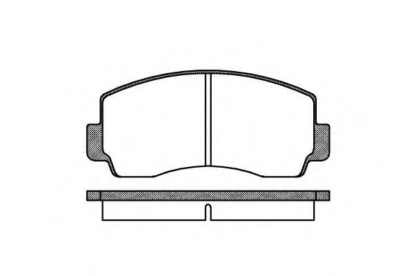 Комплект тормозных колодок, дисковый тормоз ROADHOUSE арт. 209400