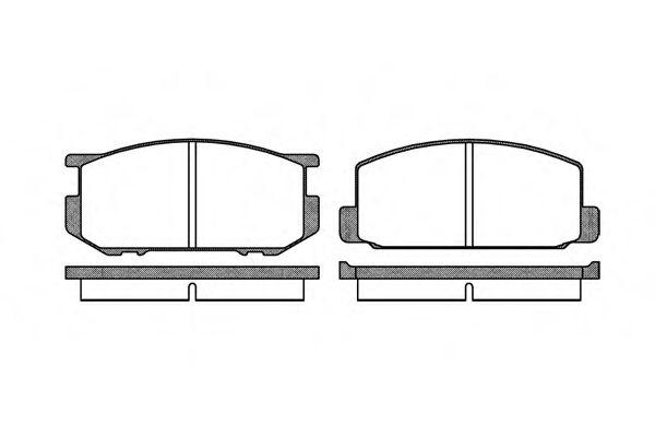Комплект тормозных колодок, дисковый тормоз ROADHOUSE арт. 210900