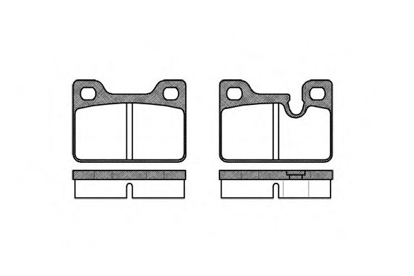 Комплект тормозных колодок, дисковый тормоз ROADHOUSE арт. 211300