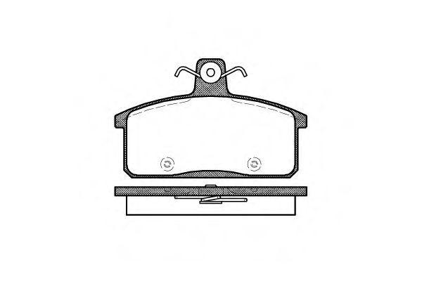 Комплект тормозных колодок, дисковый тормоз ROADHOUSE арт. 212850