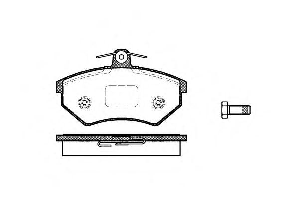 Комплект тормозных колодок, дисковый тормоз ROADHOUSE арт. 213440