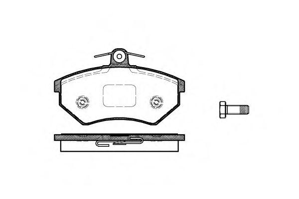 Комплект тормозных колодок, дисковый тормоз ROADHOUSE арт. 213450
