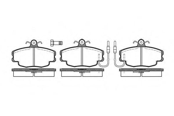 Комплект тормозных колодок, дисковый тормоз ROADHOUSE арт. 214102