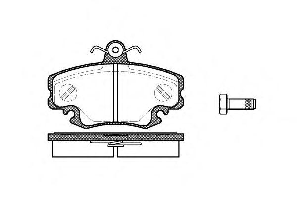 Комплект тормозных колодок, дисковый тормоз ROADHOUSE арт.