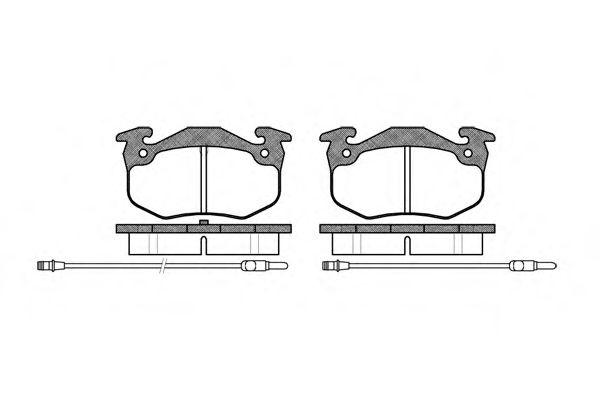 Комплект тормозных колодок, дисковый тормоз ROADHOUSE арт. 214424