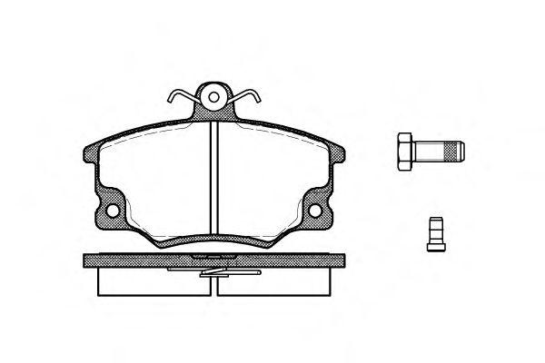 Комплект тормозных колодок, дисковый тормоз ROADHOUSE арт. 214614