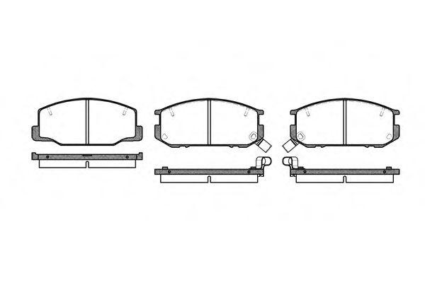 Комплект тормозных колодок, дисковый тормоз ROADHOUSE арт. 215212