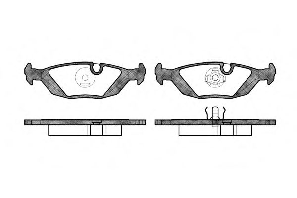 Комплект тормозных колодок, дисковый тормоз ROADHOUSE арт. 215500