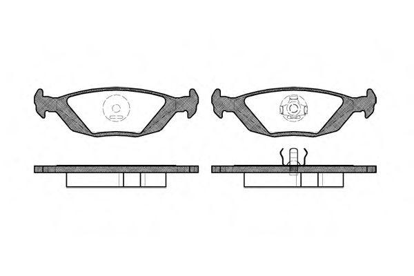 Комплект тормозных колодок, дисковый тормоз ROADHOUSE арт. 215520