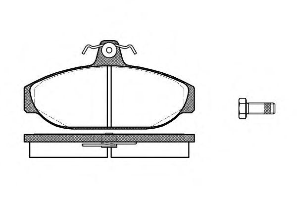 Комплект тормозных колодок, дисковый тормоз ROADHOUSE арт. 215600