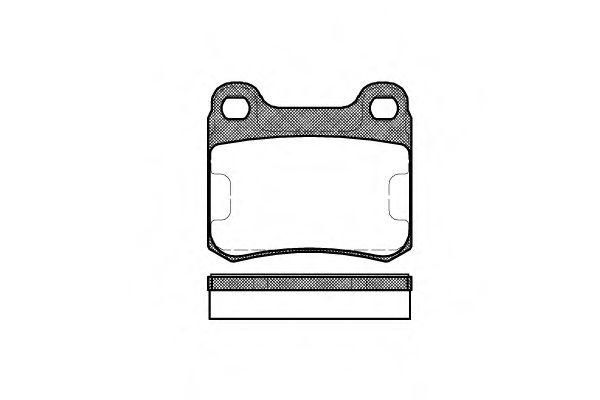 Комплект тормозных колодок, дисковый тормоз ROADHOUSE арт. 215700