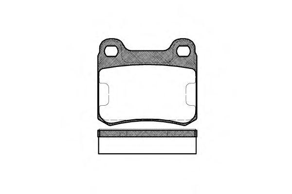 Комплект тормозных колодок, дисковый тормоз ROADHOUSE арт. 215710