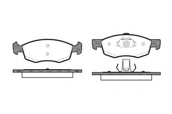 Комплект тормозных колодок, дисковый тормоз ROADHOUSE арт. 217230