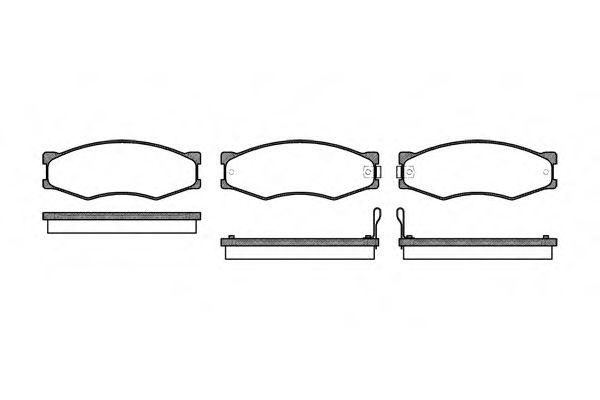 Комплект тормозных колодок, дисковый тормоз ROADHOUSE арт. 218402