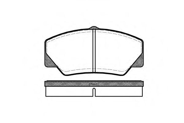 Комплект тормозных колодок, дисковый тормоз ROADHOUSE арт. 220600