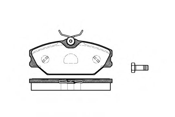 Комплект тормозных колодок, дисковый тормоз ROADHOUSE арт. 220800