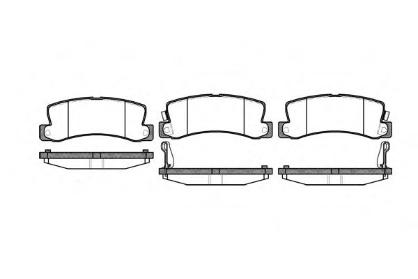 Комплект тормозных колодок, дисковый тормоз ROADHOUSE арт. 221422