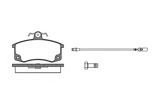 Комплект тормозных колодок, дисковый тормоз ROADHOUSE арт. 222102