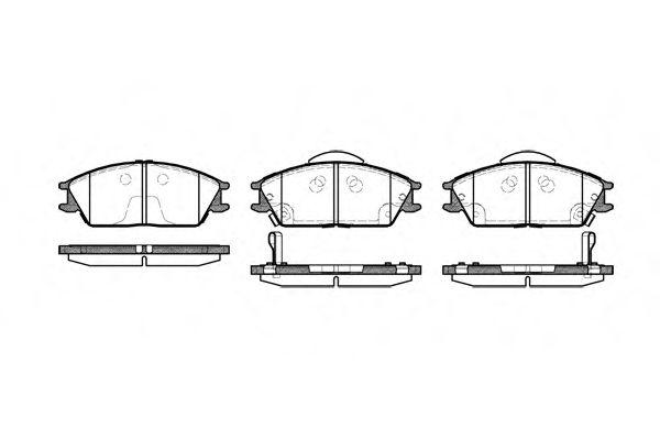 Комплект тормозных колодок, дисковый тормоз ROADHOUSE арт. 222422