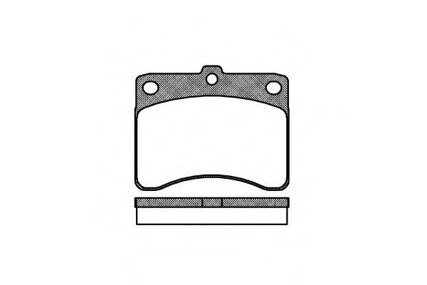 Комплект тормозных колодок, дисковый тормоз ROADHOUSE арт. 223200