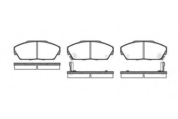 Комплект тормозных колодок, дисковый тормоз ROADHOUSE арт. 223702