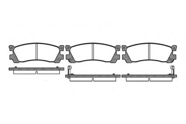 Комплект тормозных колодок, дисковый тормоз ROADHOUSE арт. 224802