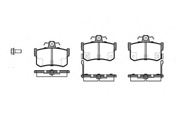 Комплект тормозных колодок, дисковый тормоз ROADHOUSE арт. 225112