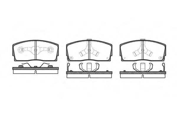Комплект тормозных колодок, дисковый тормоз ROADHOUSE арт. 225402