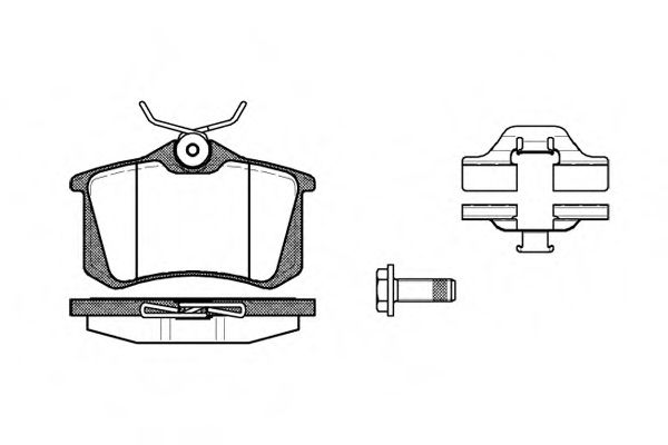 Комплект тормозных колодок, дисковый тормоз ROADHOUSE арт. 226303