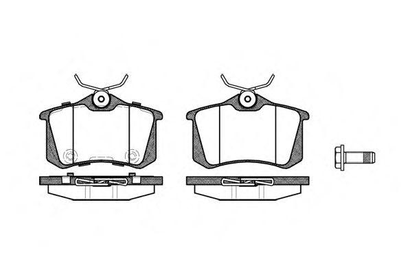 Комплект тормозных колодок, дисковый тормоз ROADHOUSE арт. 226374