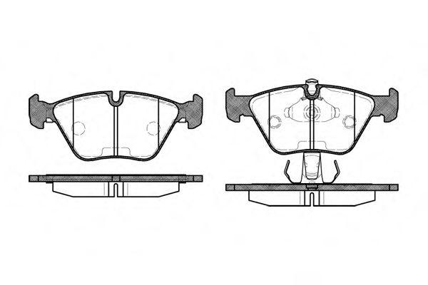 Комплект тормозных колодок, дисковый тормоз ROADHOUSE арт. 227015