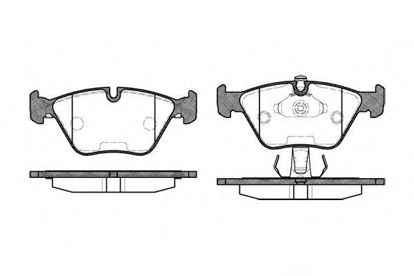 Комплект тормозных колодок, дисковый тормоз ROADHOUSE арт. 227025