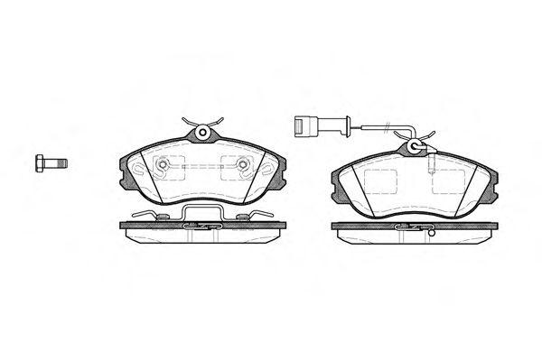 Комплект тормозных колодок, дисковый тормоз ROADHOUSE арт. 227622