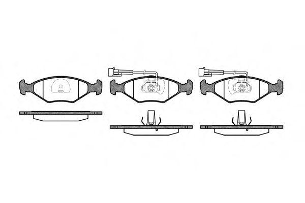 Комплект тормозных колодок, дисковый тормоз ROADHOUSE арт. 228132