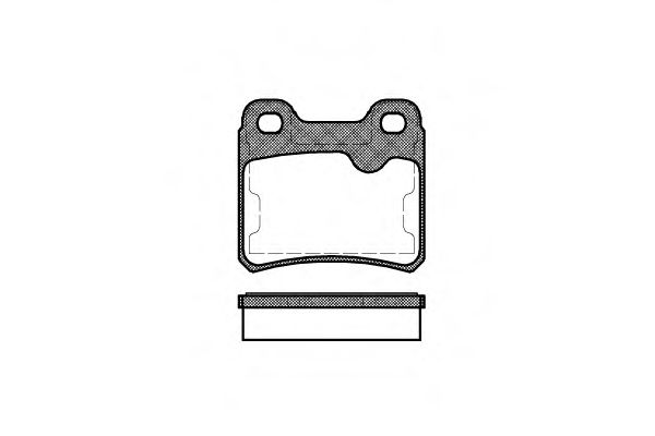 Комплект тормозных колодок, дисковый тормоз ROADHOUSE арт. 228210