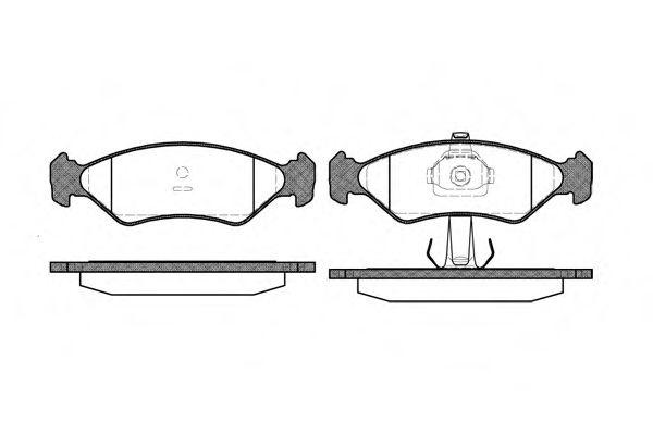 Комплект тормозных колодок, дисковый тормоз ROADHOUSE арт. 228520