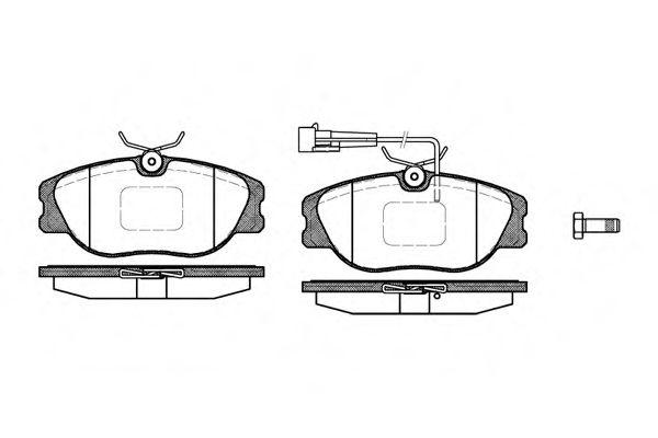 Комплект тормозных колодок, дисковый тормоз ROADHOUSE арт. 230512