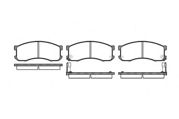 Комплект тормозных колодок, дисковый тормоз ROADHOUSE арт. 231302