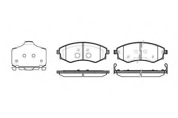 Комплект тормозных колодок, дисковый тормоз ROADHOUSE арт. 231803